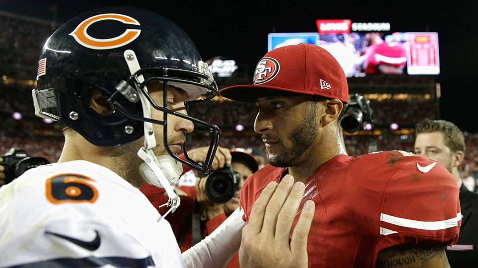 Jay Cutler-Colin Kaepernick-080917-GETTY-FTR