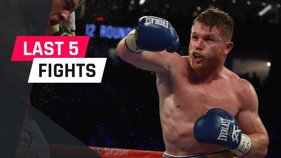 Canelo Alvarez S Last Five Fights Boxing Sporting News