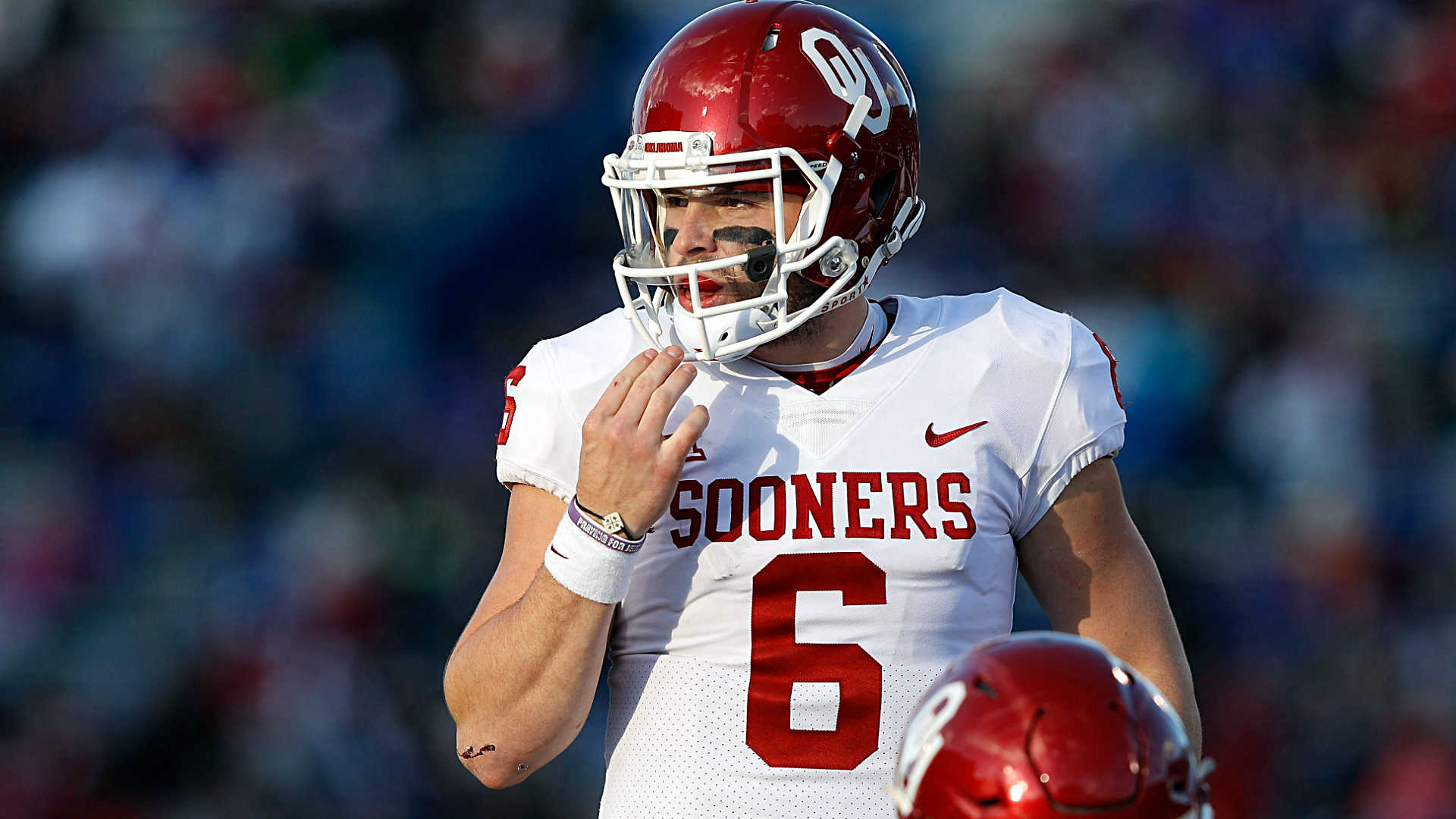 What Baker Mayfield said about his inappropriate gesture towards Kansas
