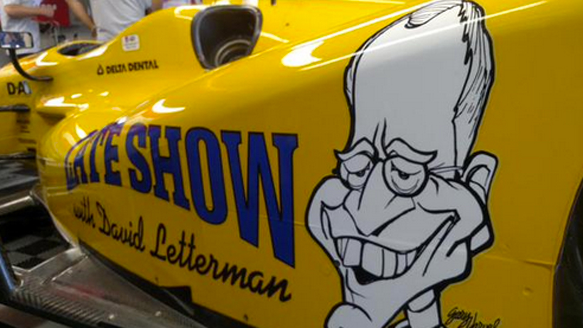 Indy 500 car features David Letterman-themed paint job