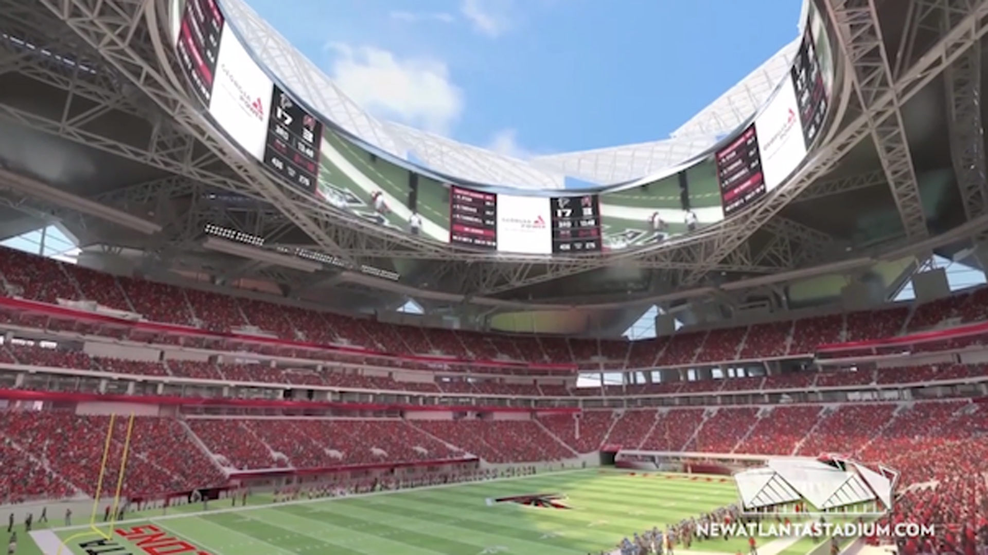 Falcons mercedes benz agree to naming rights deal for new for Mercedes benz stadium atlanta