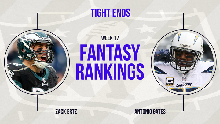 Fantasy Football Week 17 Rankings Tight End Fantasy