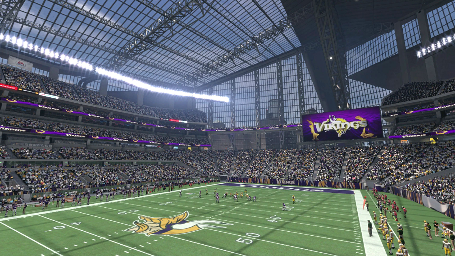 New Vikings Stadium Opening Next Season Debuts In Madden
