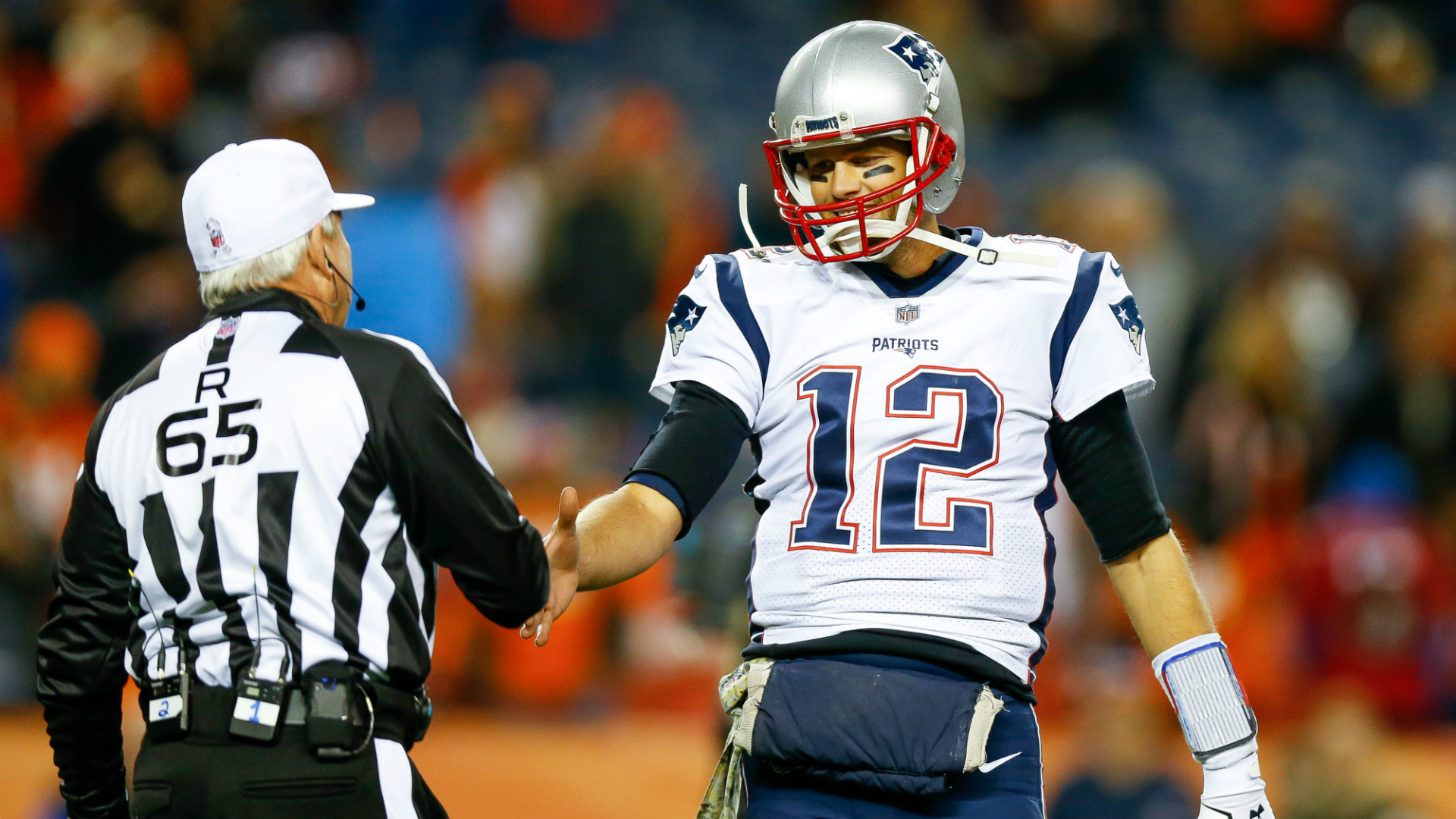 A referee did not celebrate a touchdown with the Patriots