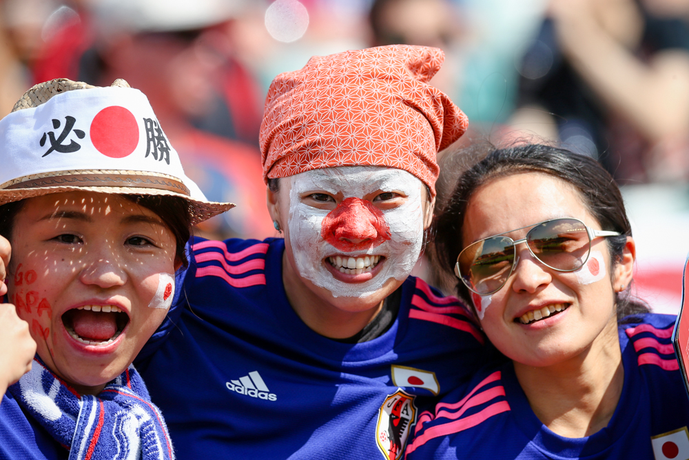 Photos of Japan and England's match to reach Women's World Cup final