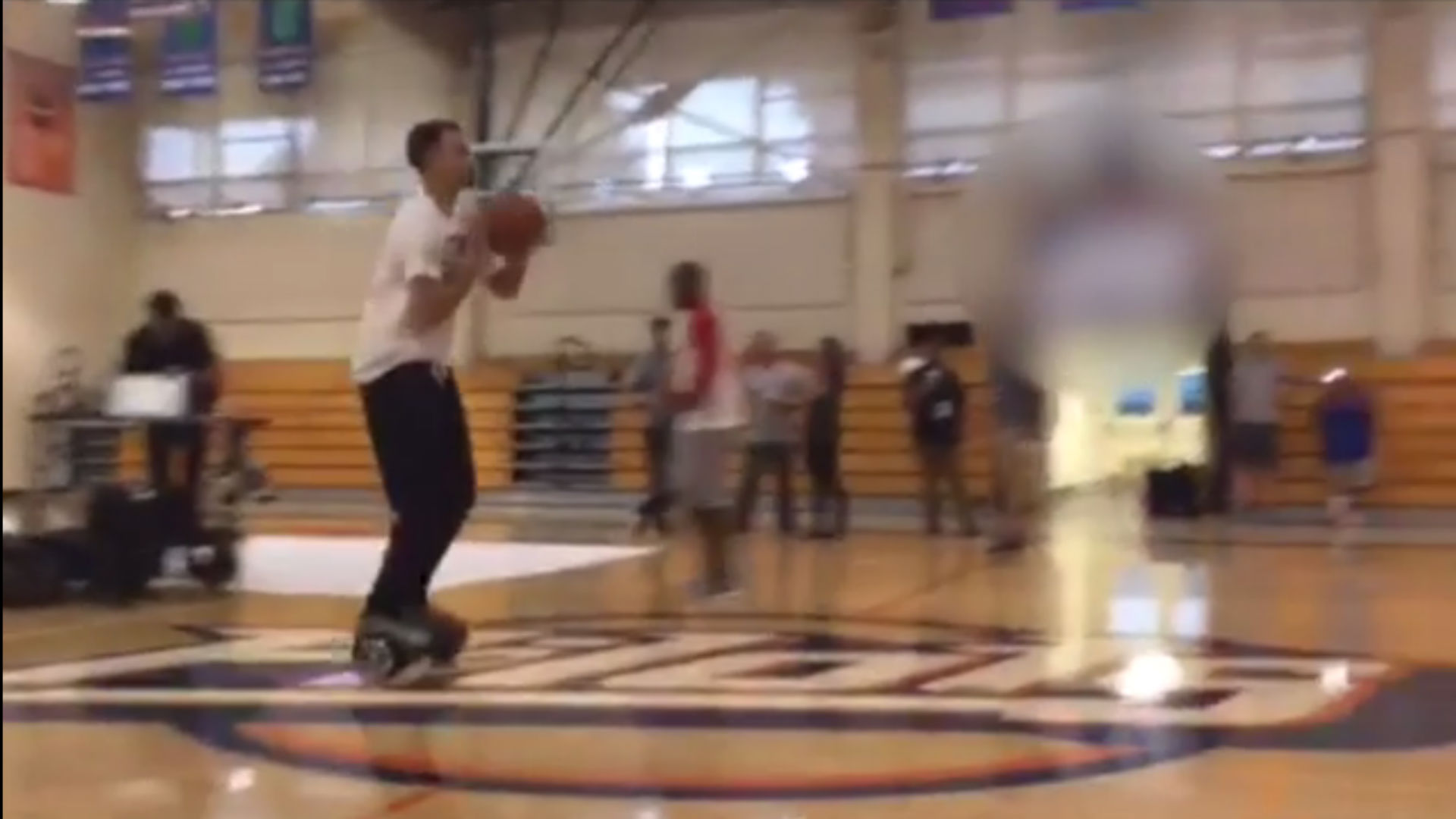 Stephen Curry hit a shot from halfcourt on PhunkeeDuck and made it look easy