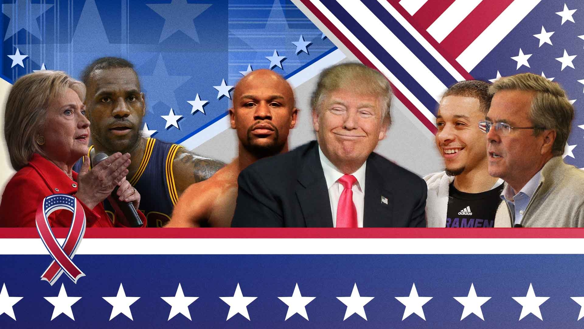 presidential election 2016 which sports figure does each candidate