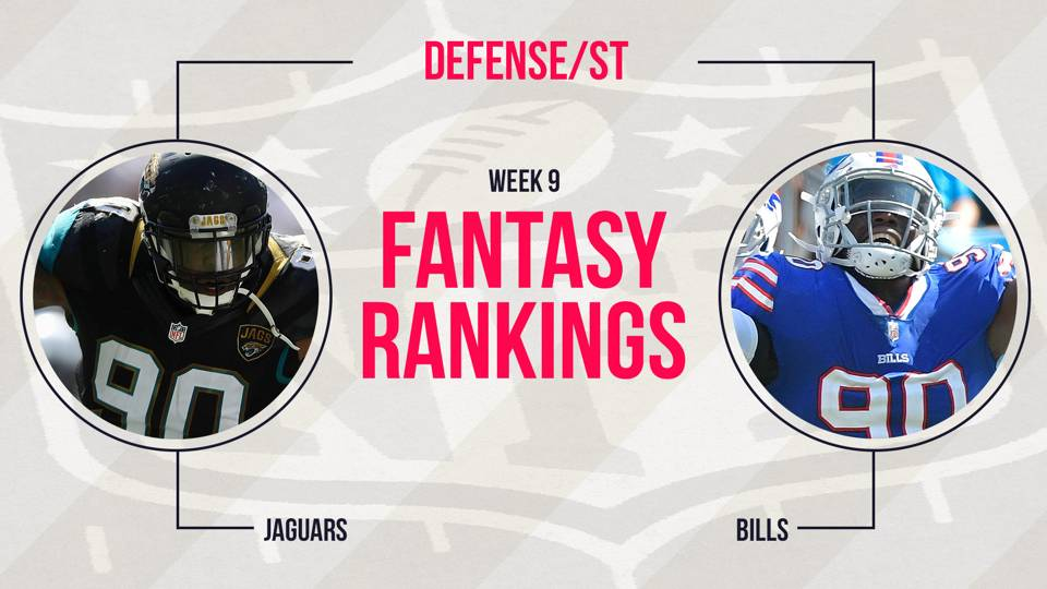 Fantasy-DST-Rankings-Week-9-FTR
