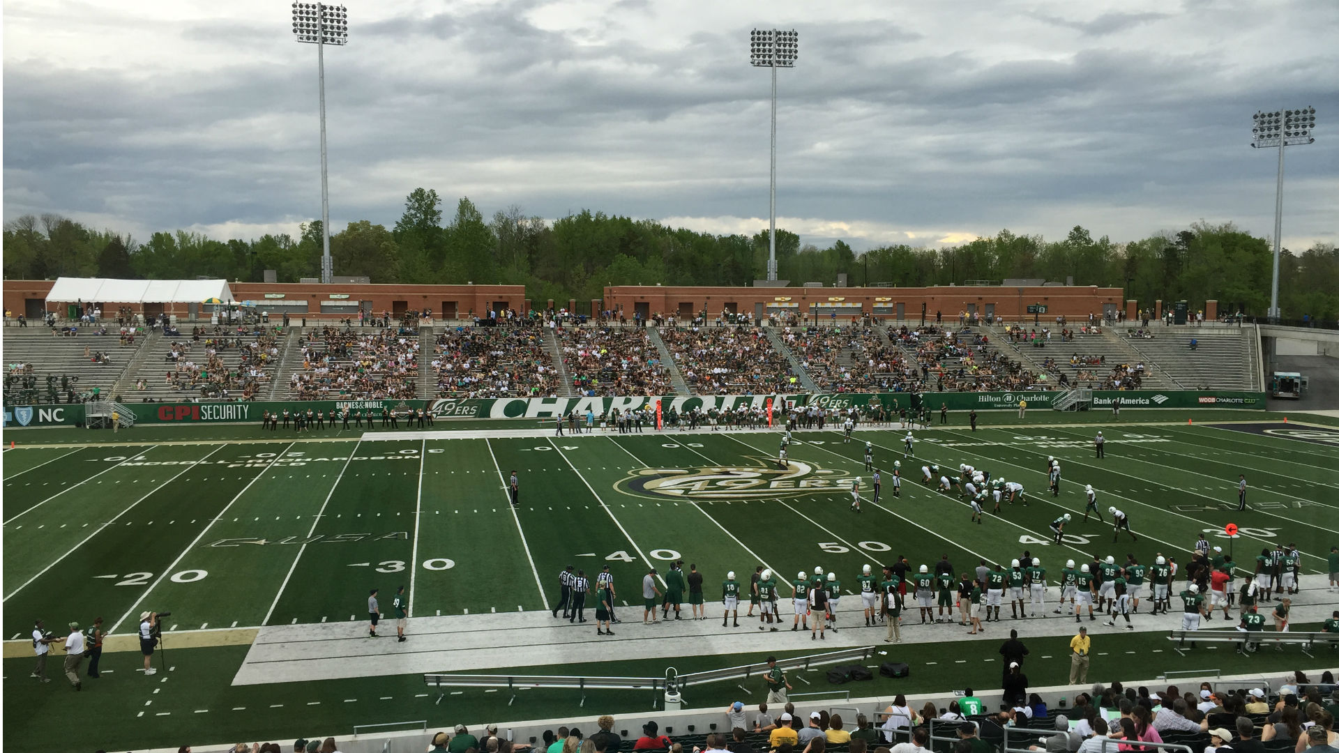 Lights, camera ... Charlotte inches closer to FBS debut