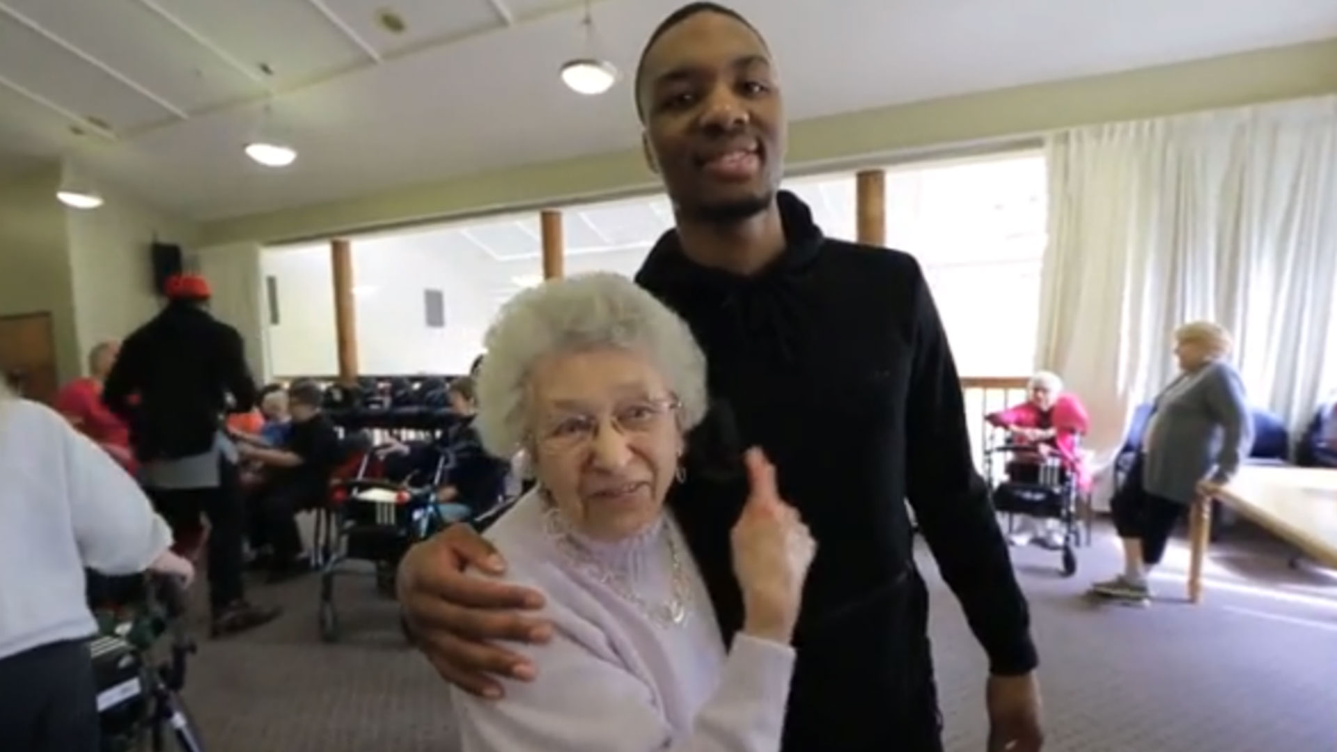Damian Lillard hooks senior citizens up with free signature shoes