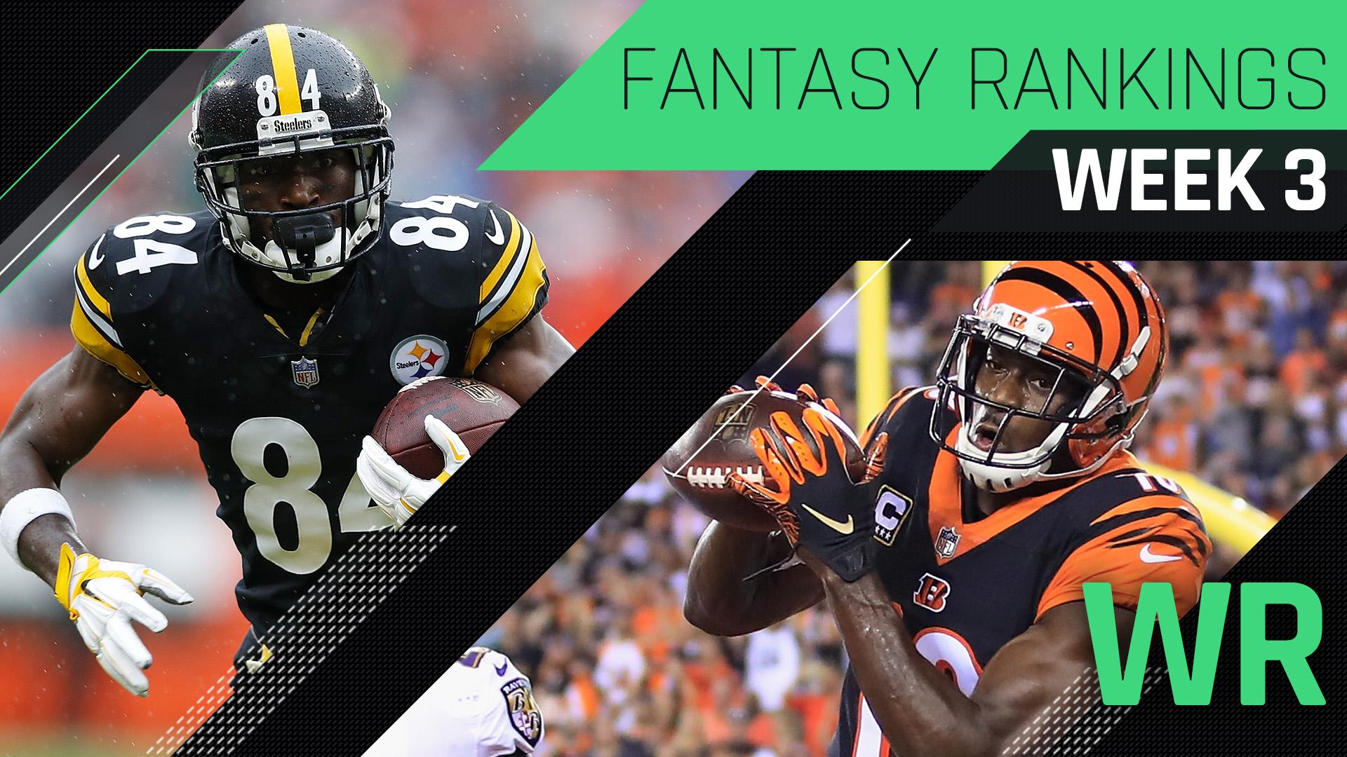 Week 3 Fantasy Rankings: Wide receiver