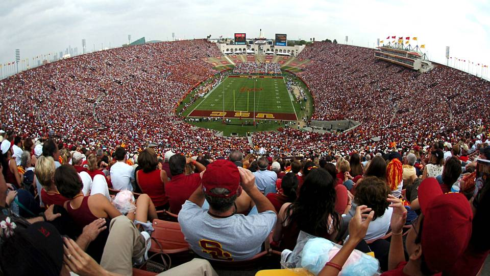 Usc plans to sell naming rights to la coliseum to fund renovation usc endzone 071715 ftrg platinumwayz