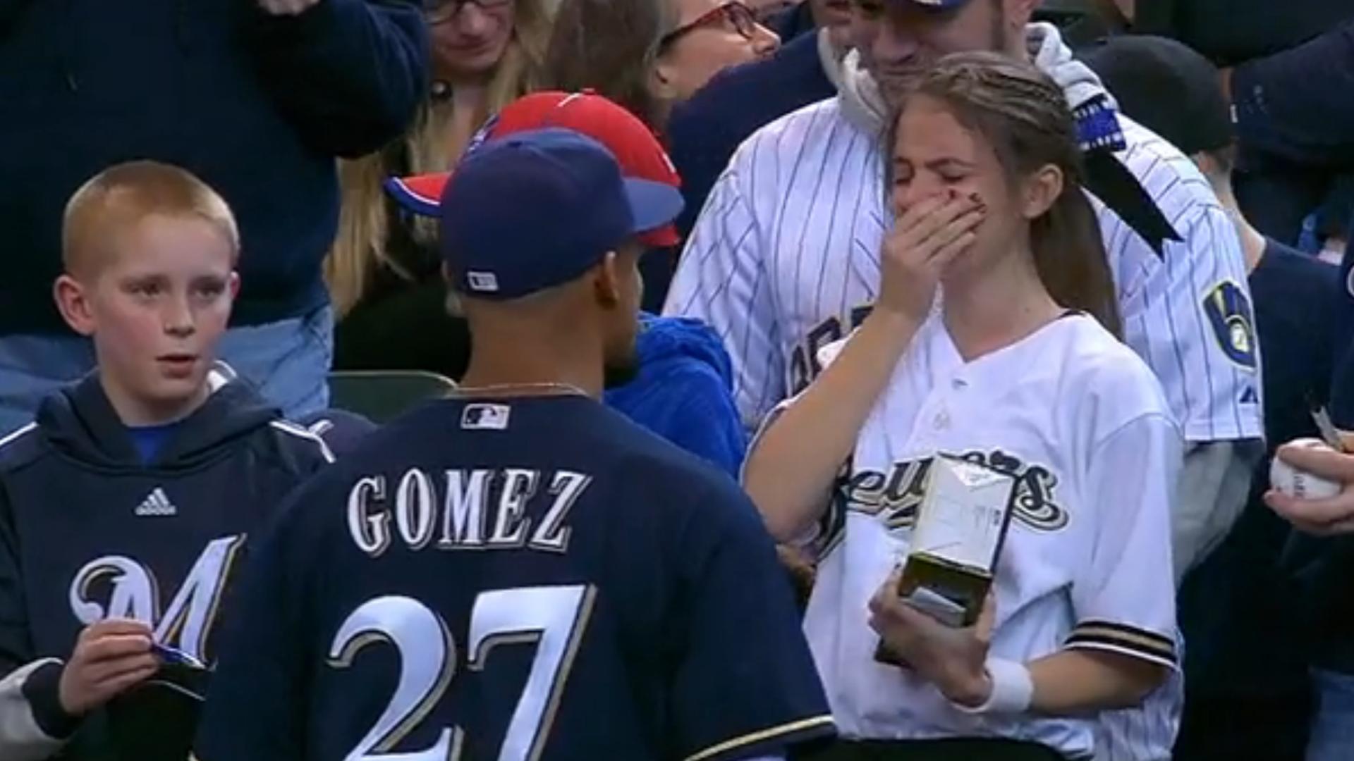 Gomez and fan