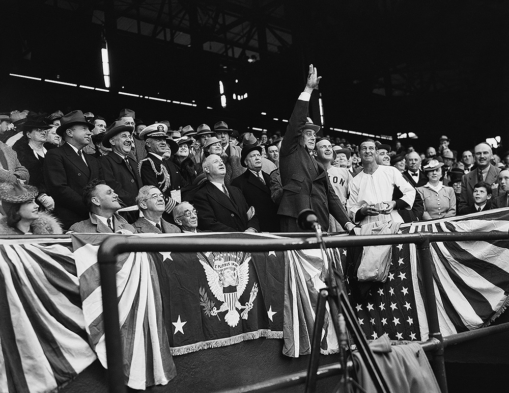 Historical photos of Presidential first pitches