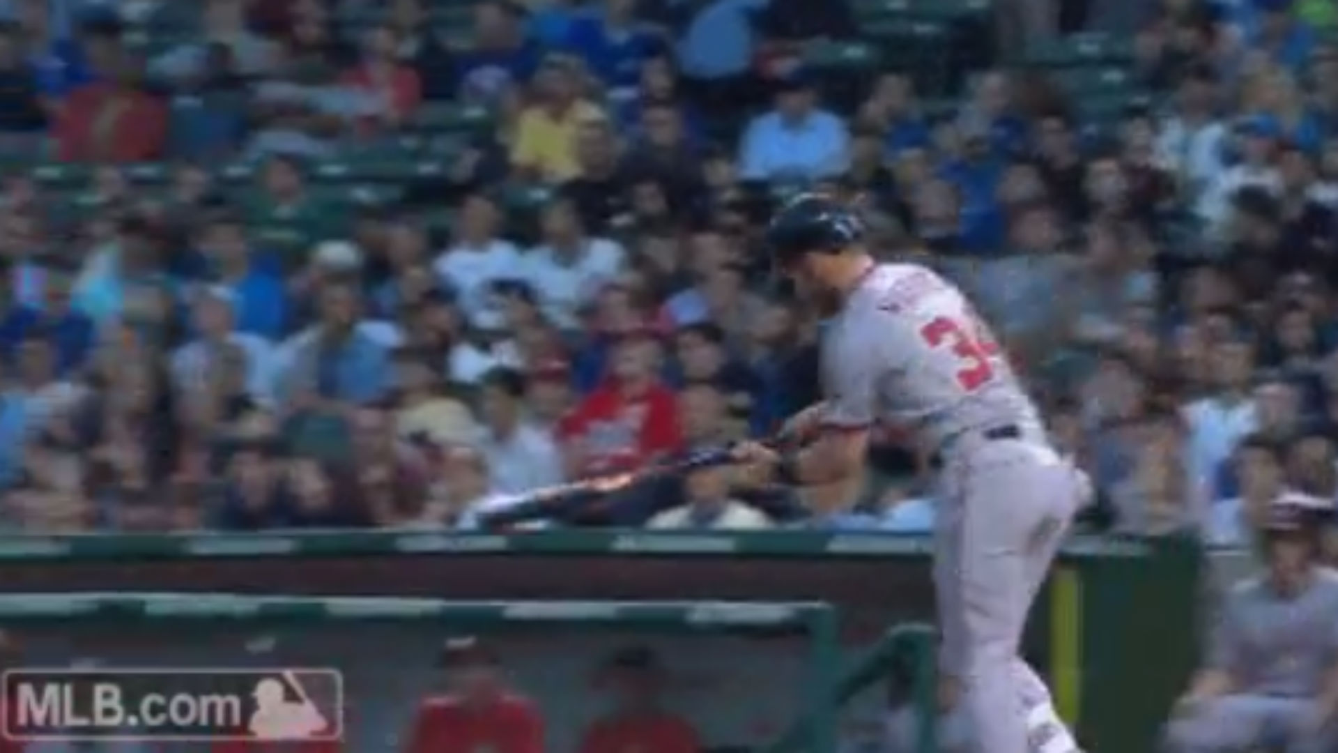 Bryce Harper upset he popped out, hits home run instead