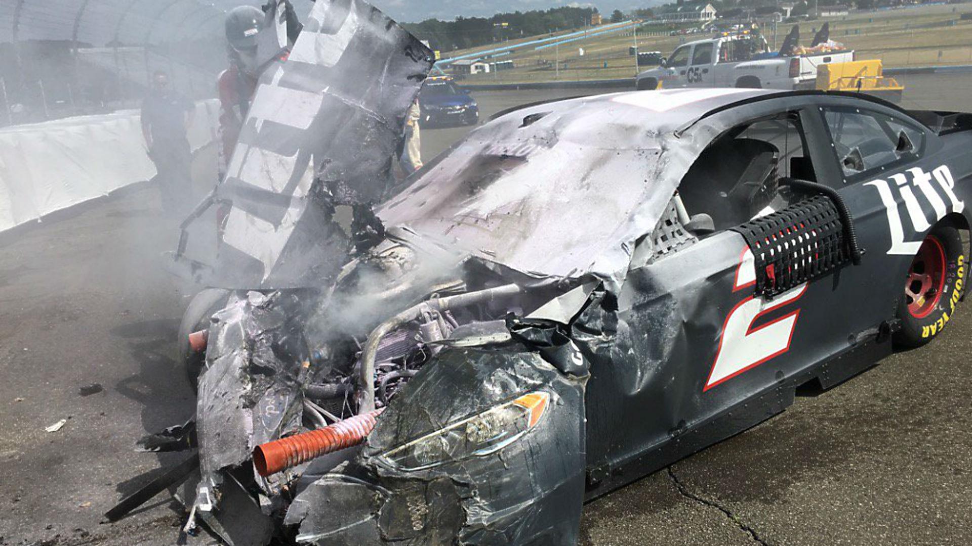 Brad Keselowski Destroys Car In Vicious Crash At Watkins Glen