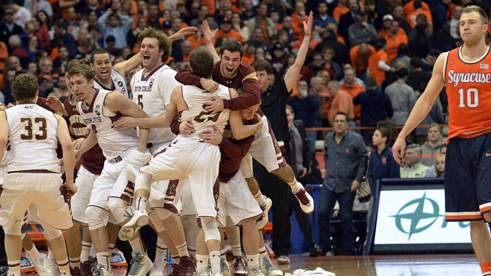 No 1 Goes Down Boston College Stuns Syracuse In Overtime At