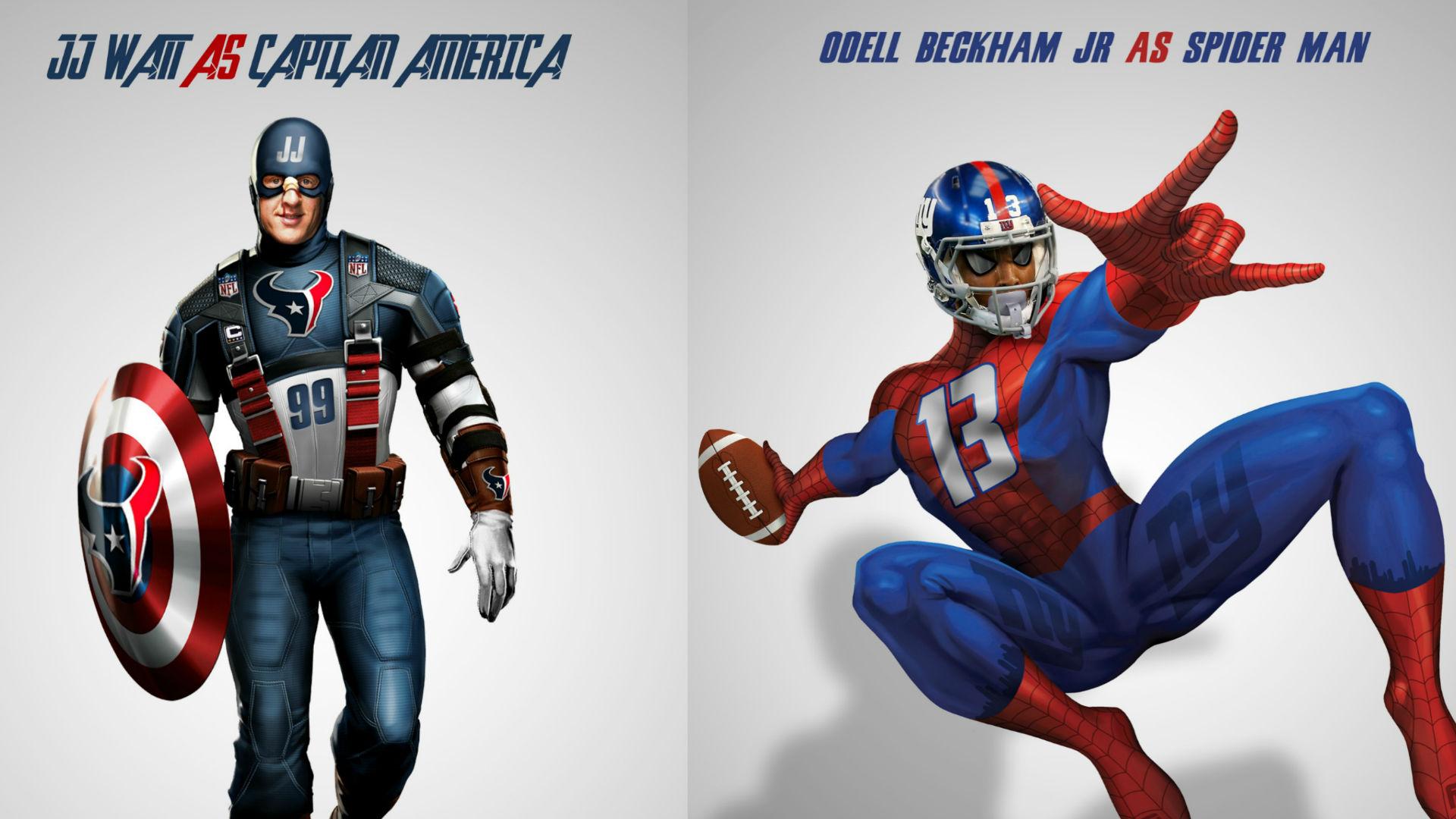 NFL Stars Depicted As Superheroes