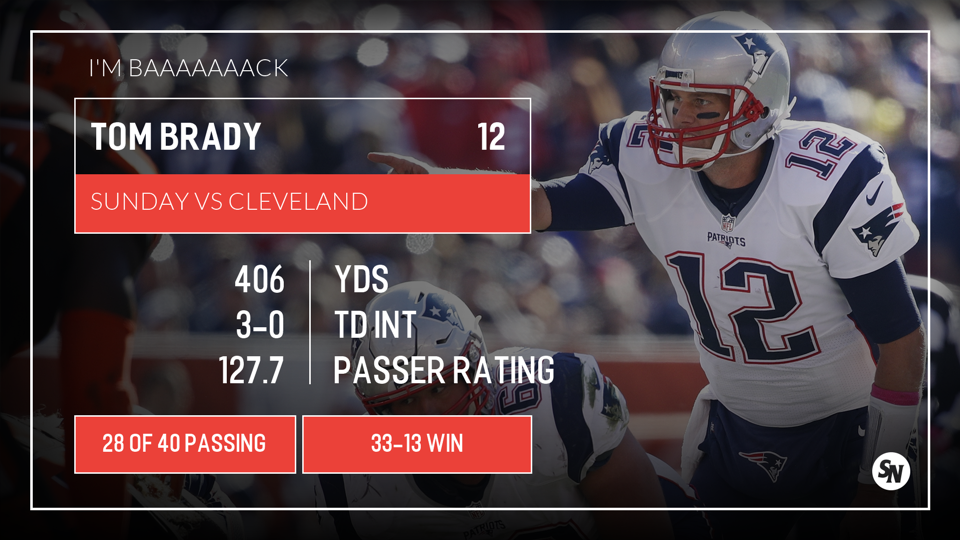 Brady vs Browns