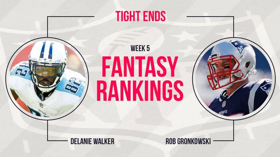 Fantasy Football Week 5 Rankings Tight End Fantasy