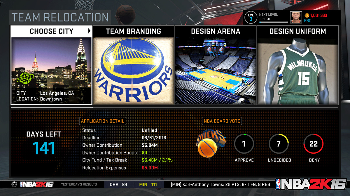 NBA 2K16 will allow you to move a team to Seattle — or ...