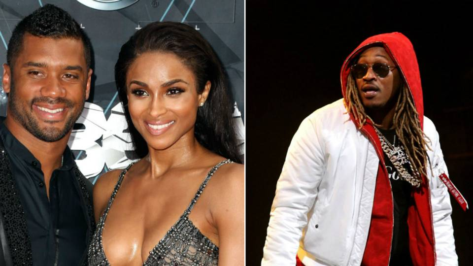 rapper future on sidelines before russell wilson seahawks take on