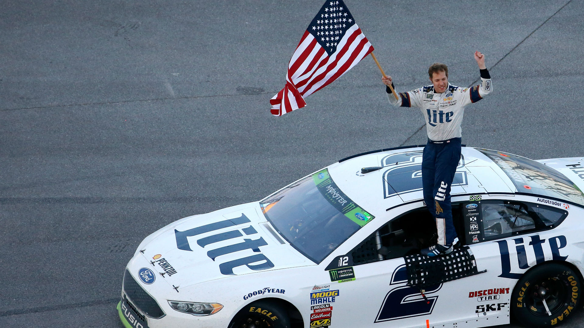 talladega Talladega, ala - on the longest day at talladega — in a war of attrition that required three red flags and left 14 cars running at the finish — brad keselowski powered his no 2 team penske.