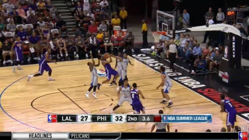 f9512e41d Jahlil Okafor rejects D Angelo Russell in Summer League game