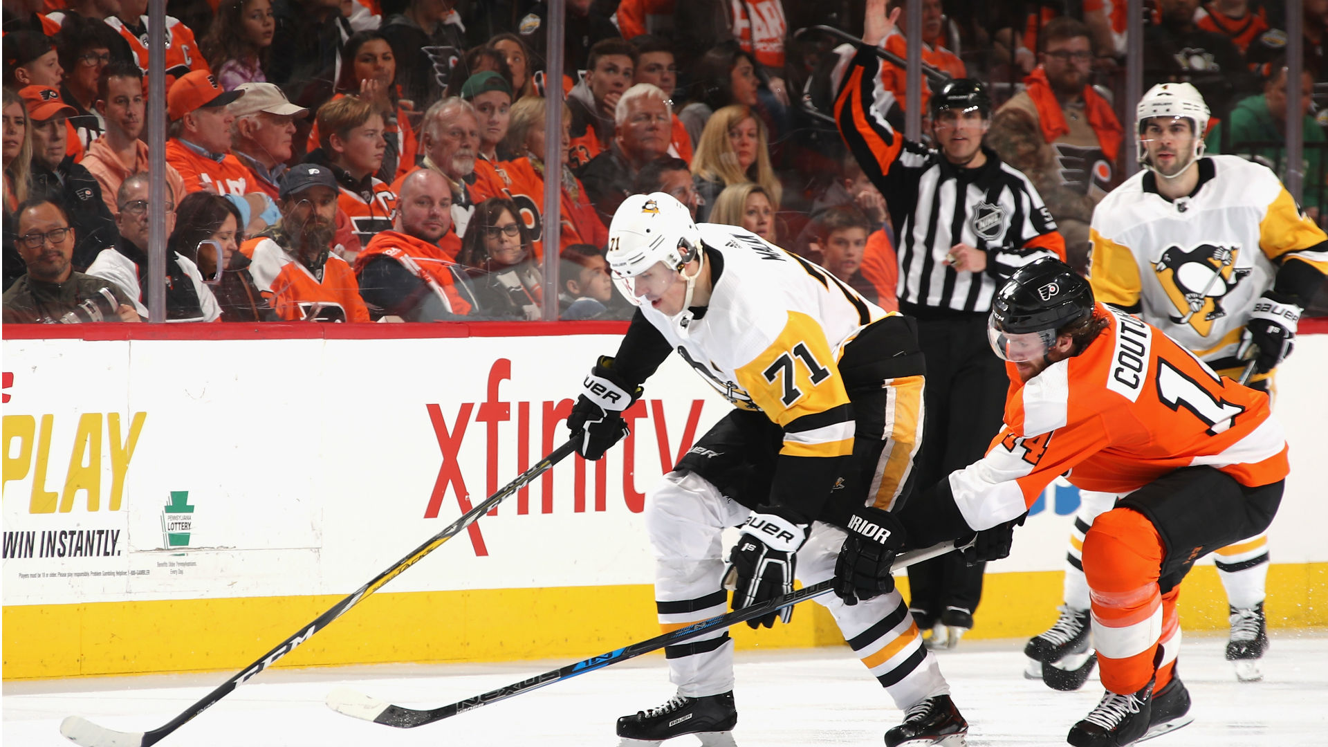 Pens shutout Flyers for 3-1 series lead
