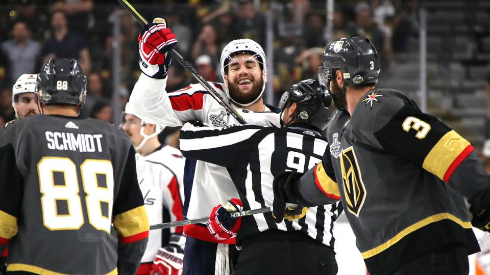 1167c21ac Stanley Cup Final 2018  Capitals  Tom Wilson spoils Game 1 party with  another scrutinized hit · NHL
