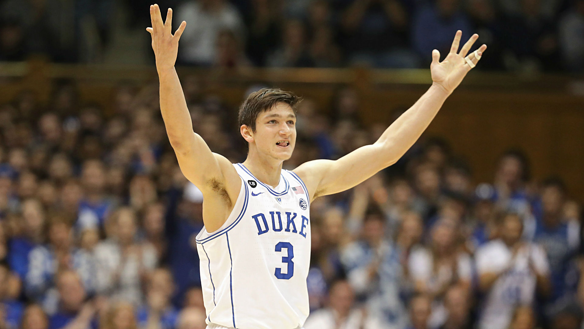 grayson allen gets technical foul after angrily slamming