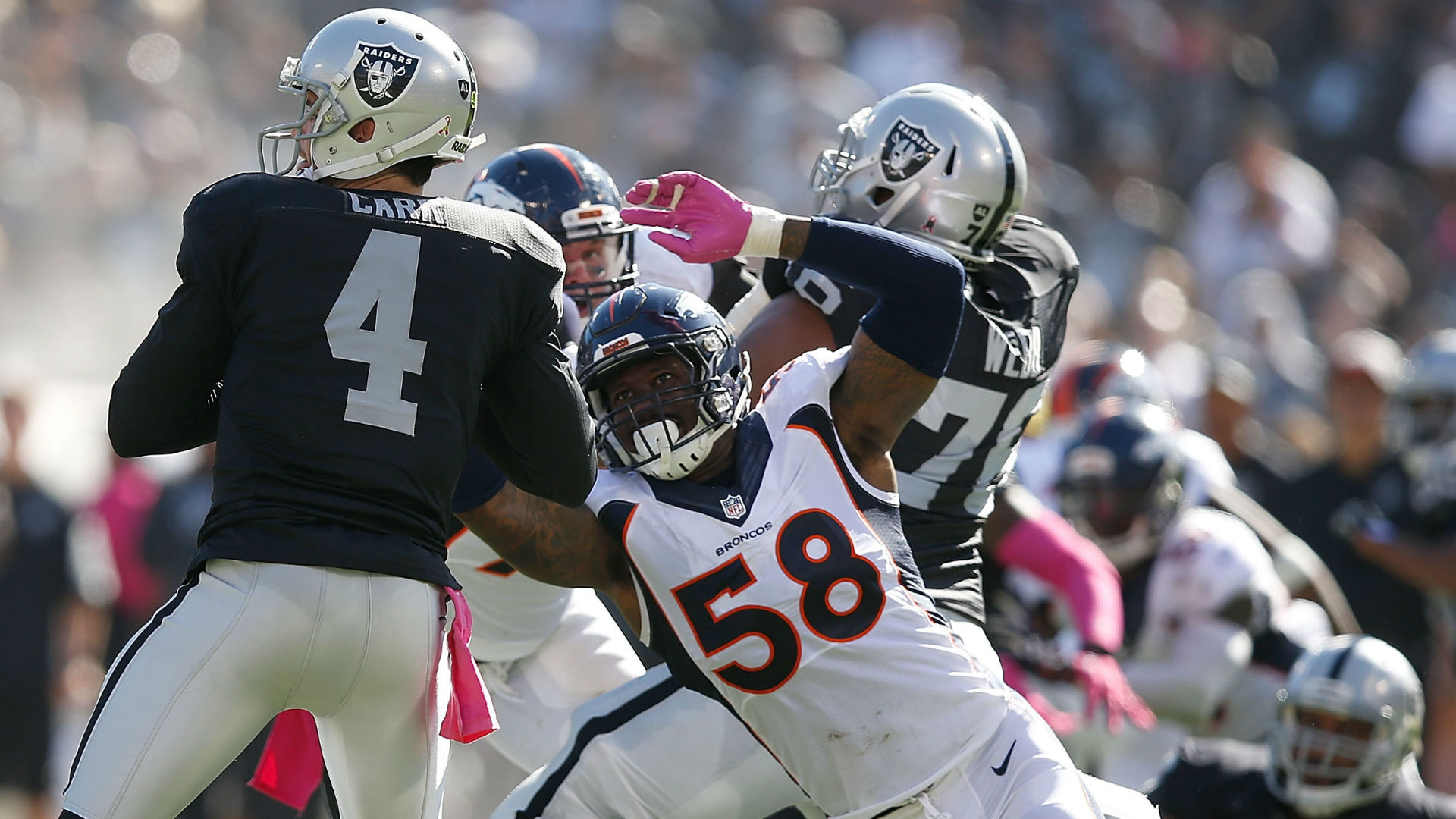 nfl point spread this week broncos raiders point spread