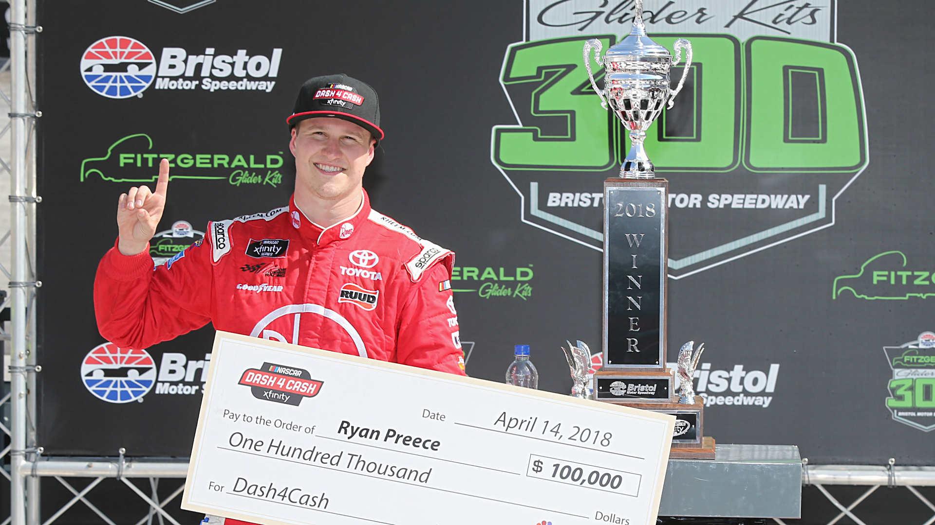 NASCAR at Bristol: Ryan Preece wins Xfinity race, $100,000 bonus