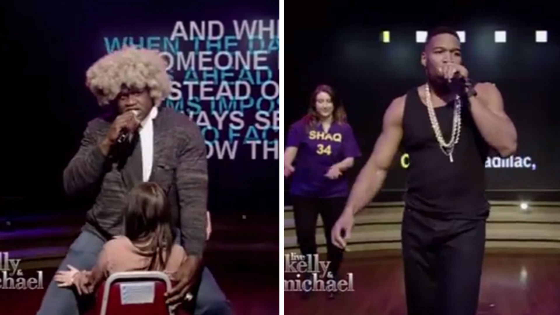 Shaquille o 39 neal michael strahan have karaoke battle for Where does shaq live