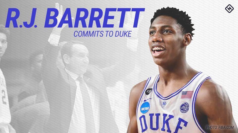 R.J. Barrett again bedevils John Calipari by making Duke his college choice 85773b400
