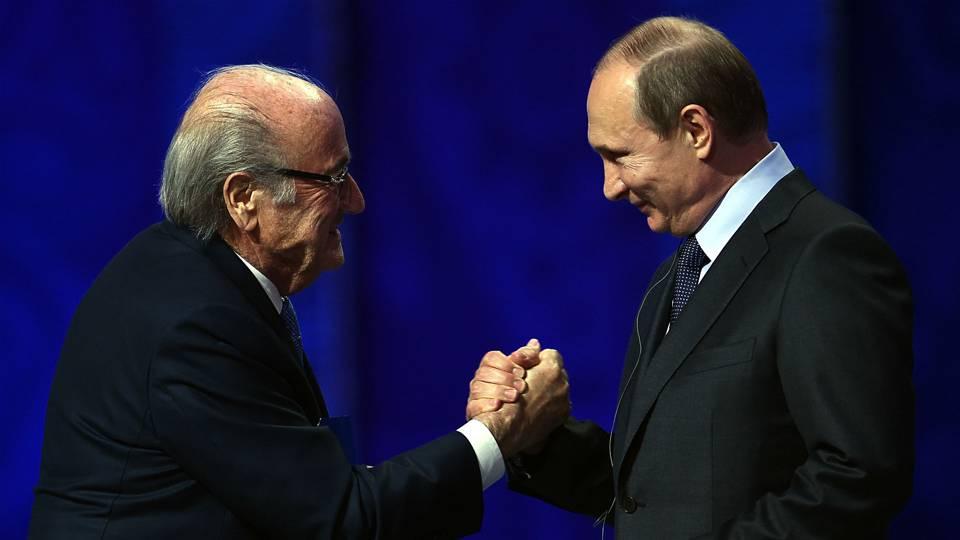 Vladimir Putin Sepp Blatter - 121715 - Getty - FTR