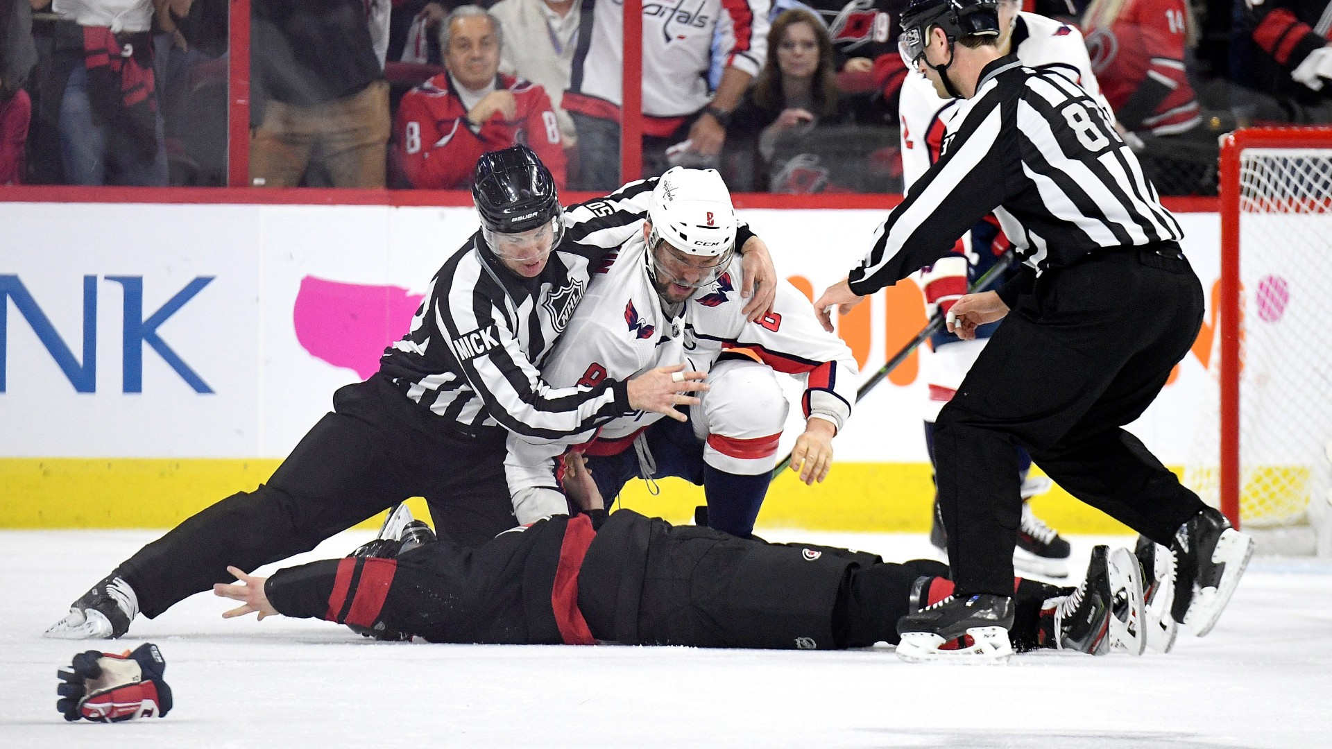 Nhl Playoffs 2019 Alex Ovechkin Knocks Out Canes Andrei Svechnikov In First Period Fight