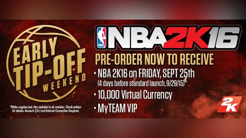 Release Date Set For Nba 2k16 Pre Order And Get It Even Earlier