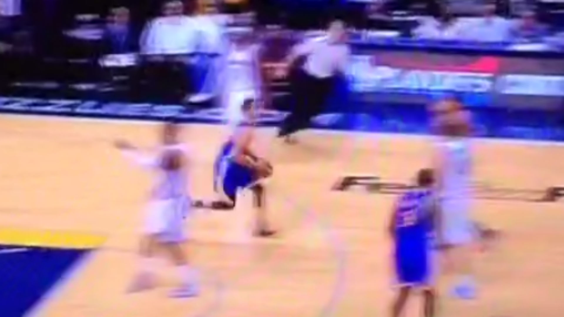 Stephen curry drains ridiculously long buzzer beater