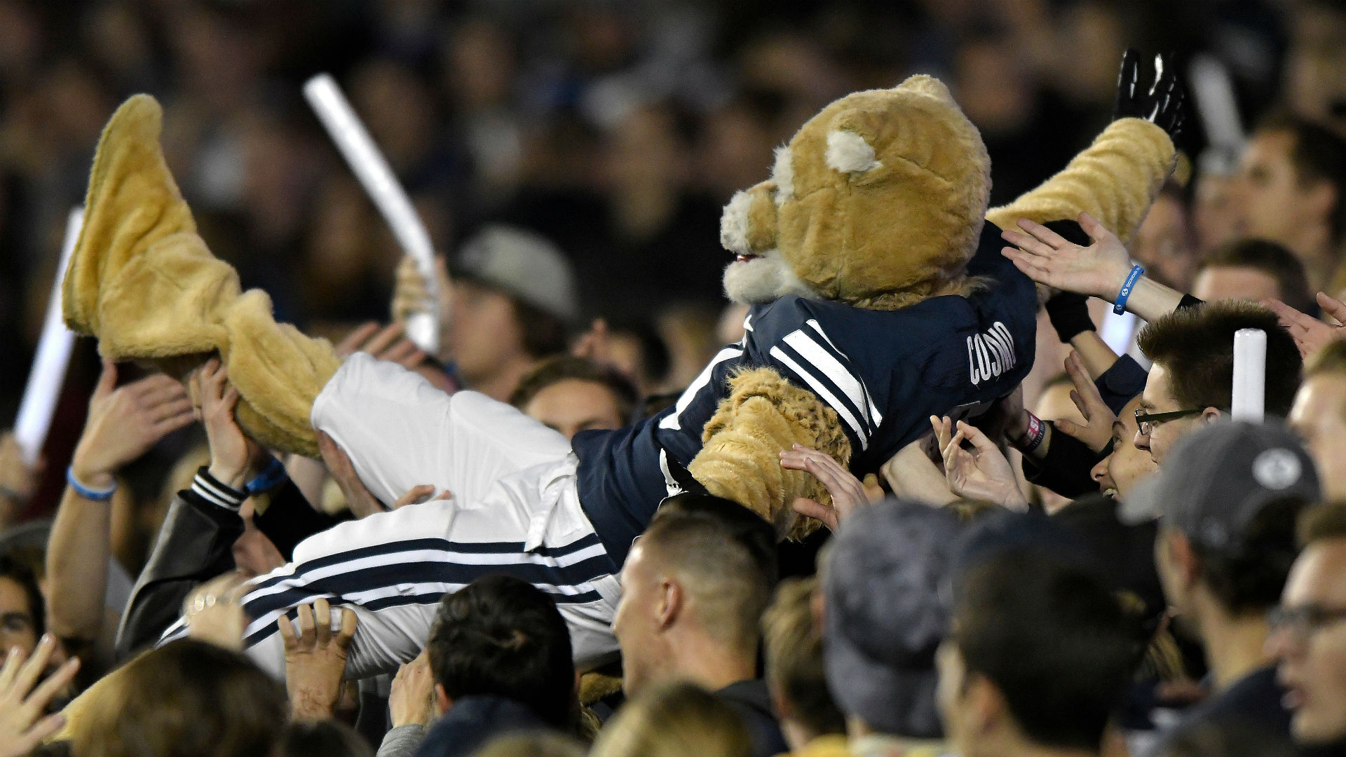 BYU mascot stuns in performance with dance team | NCAA Football | Sporting News