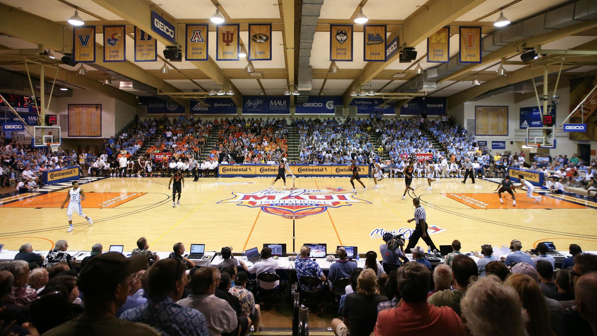 College Basketball Holiday Tournament Brackets Announced Maui