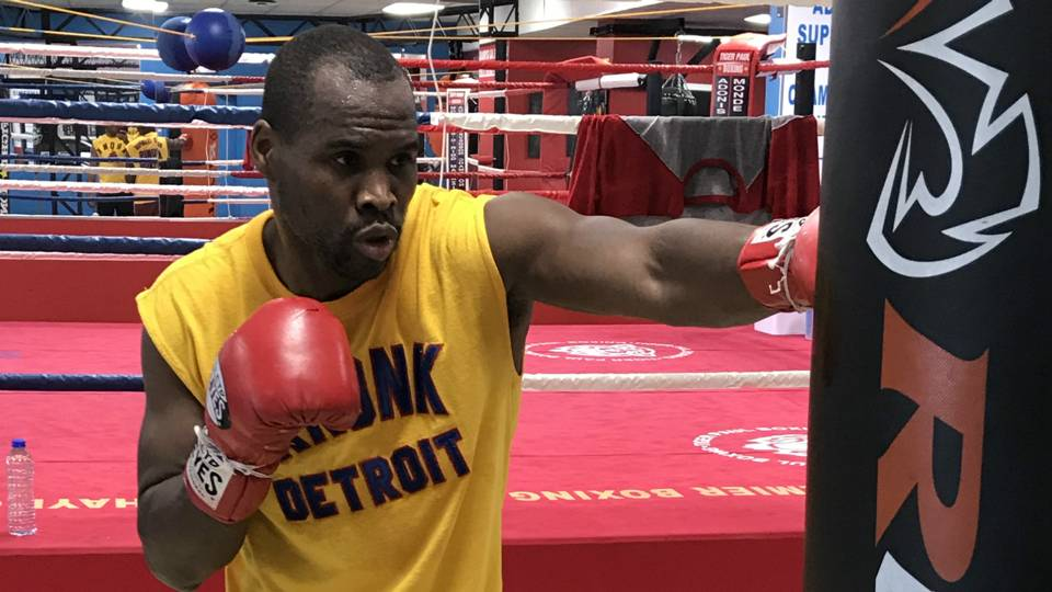 Adonis Stevenson trains for WBC light heavyweight title defense versus Badou jack on May 19