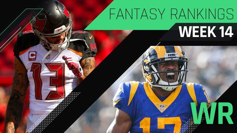 Week 14 Fantasy Rankings Wr Fantasy Sporting News