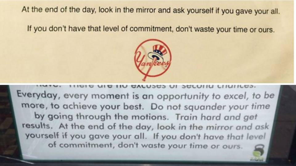 Yankees Take Spring Training Motivational Words Straight From - Motivational words of the day