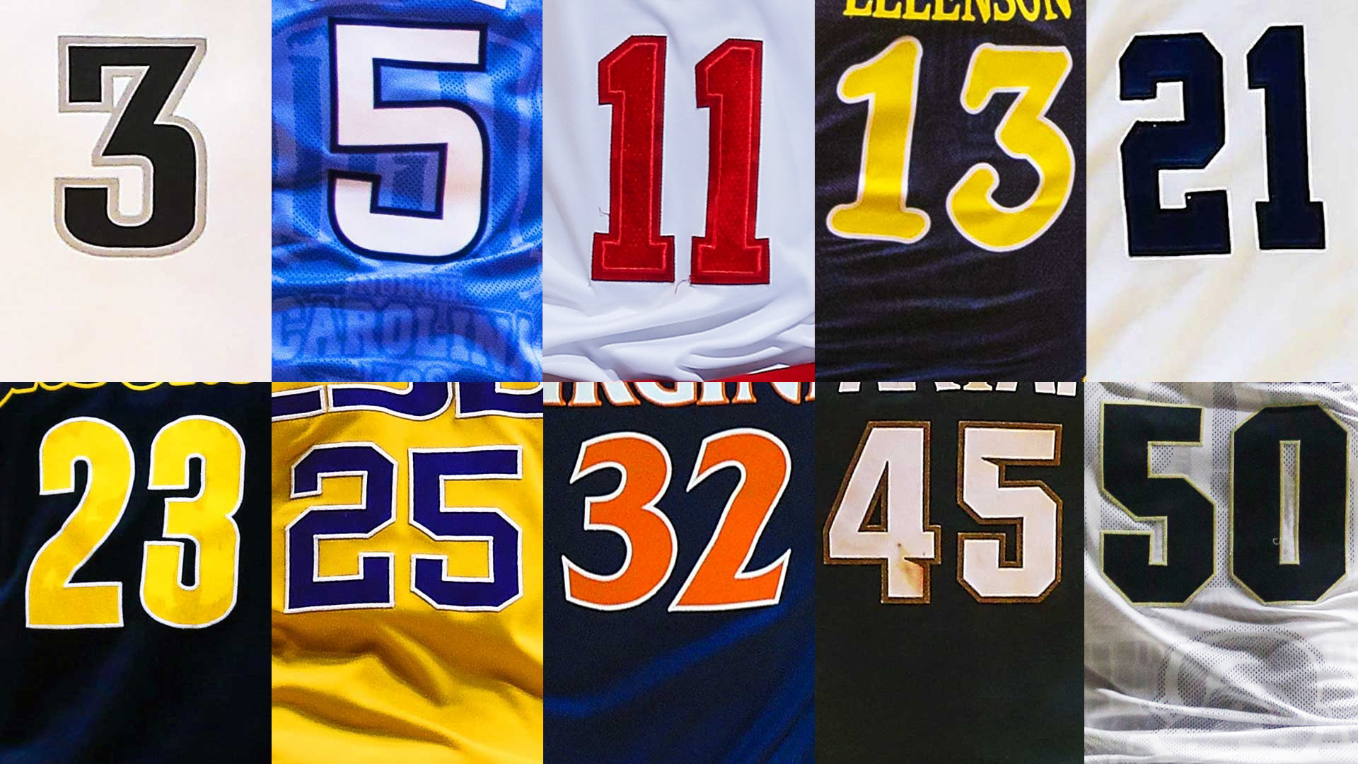 numbers on jersey