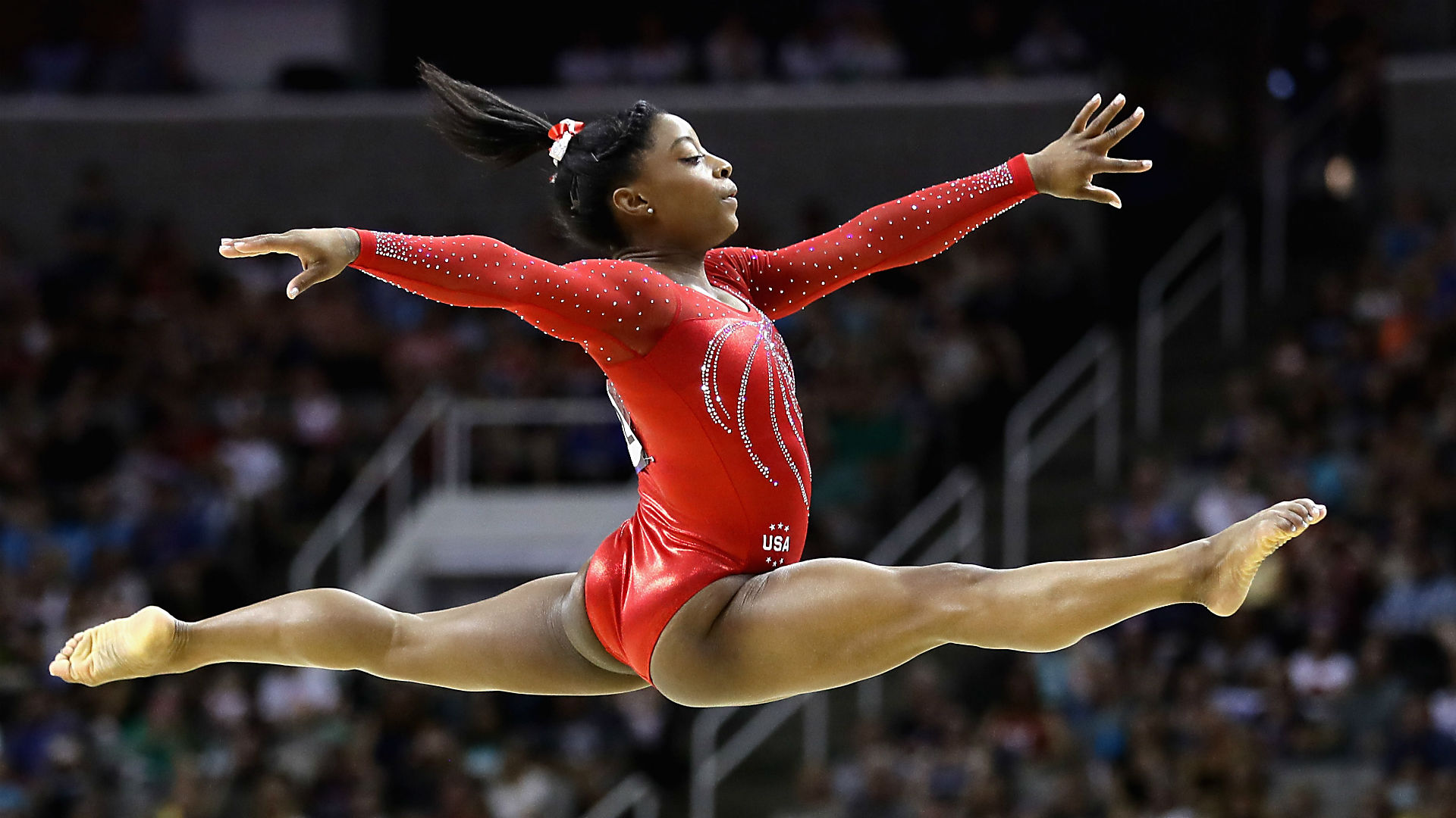 Simone Biles could be greatest women's gymnast ever, NBC's ... Nastia Liukin Gymnastics Wallpaper