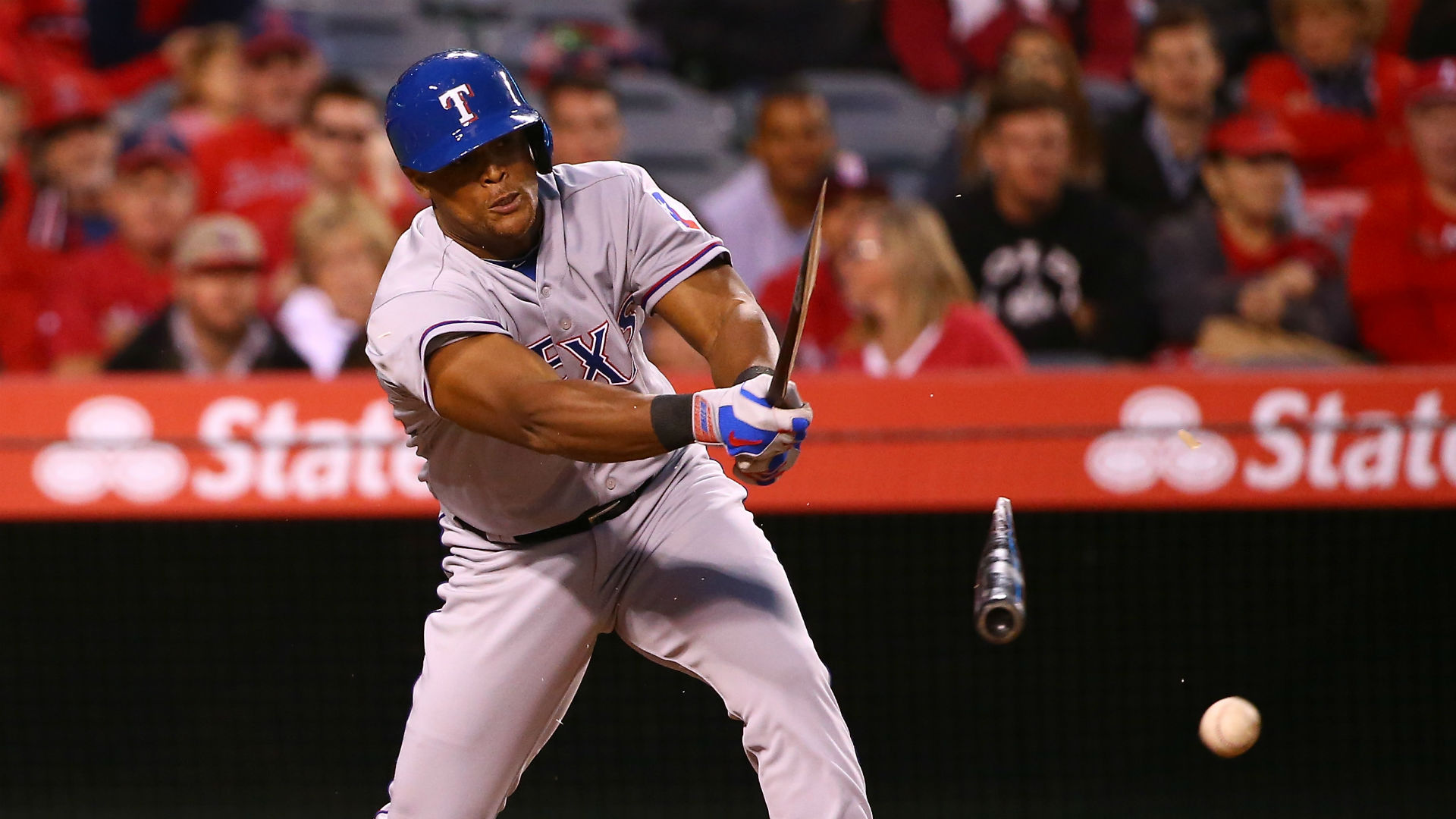 Rangers' Adrian Beltre breaks three bats, sends Angels' Garrett Richards an invoice