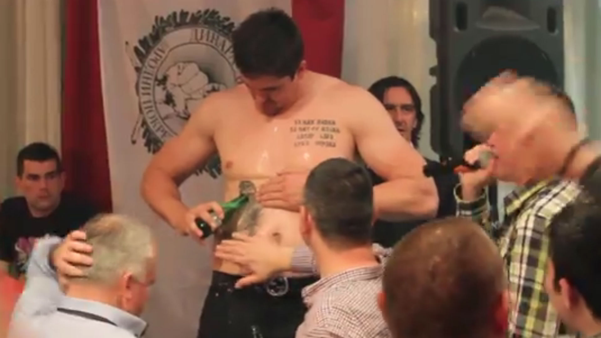 Darko Milicic acts like drunken fool, sings karaoke shirtless