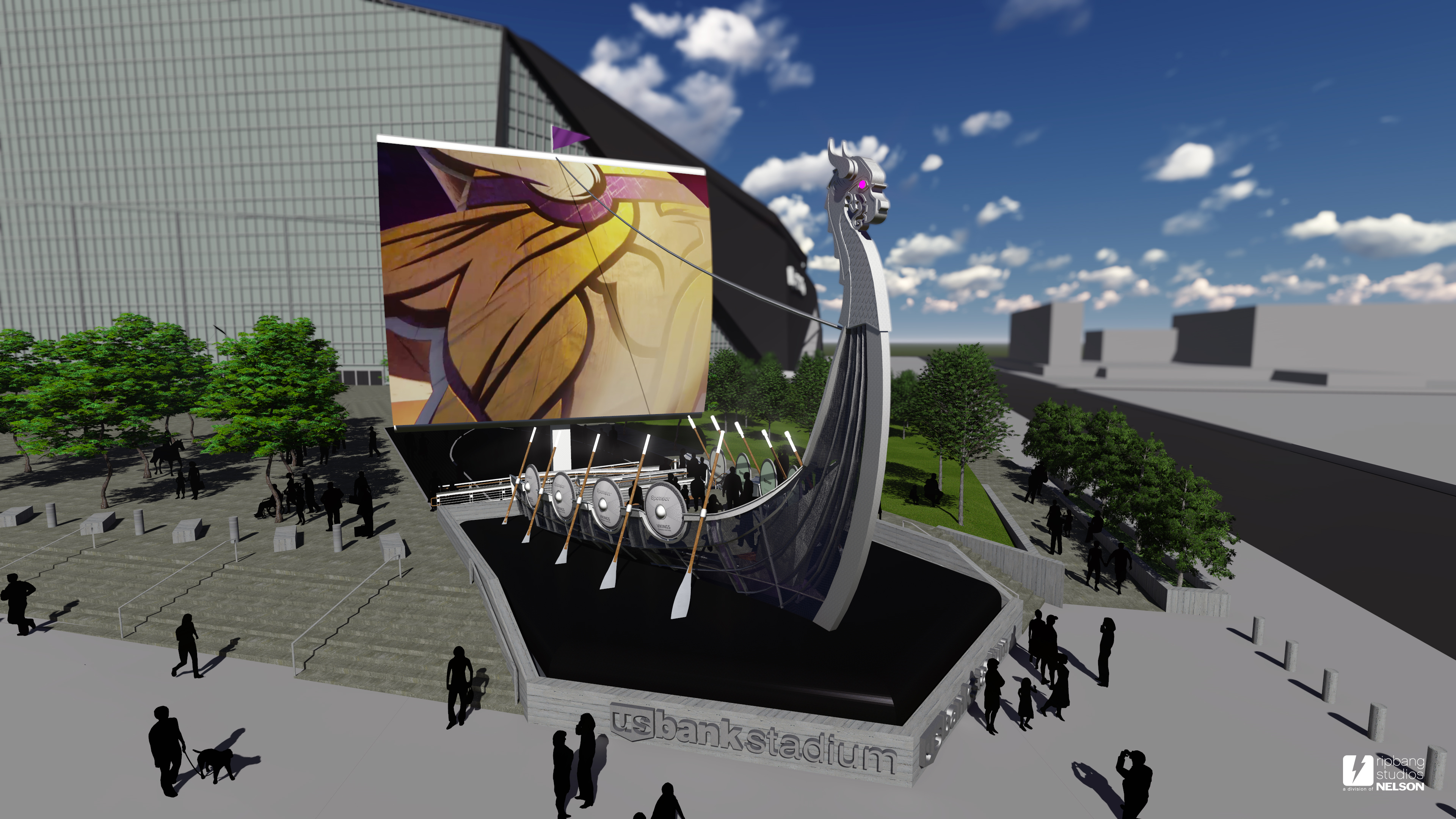 Nordic Ship Will Steer Vikings Fans To New Stadium Nfl
