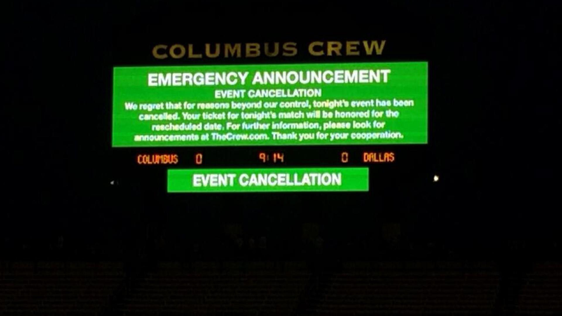 Columbus Crew scoreboard